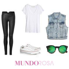 outfit mezclilla denim chaleco moda ootd https://www.facebook.com/MundoRosaMx