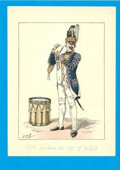 France - Planche de JOB - 1772.Régiment d'ANHALT. Tambour. | Collections, Militaria, Documents, revues, livres | eBay!