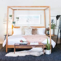 Ready for a super amazing giveaway? We've teamed up with @roomandboard to give one lucky reader this bed, bedding and mattress! Enter on 100 Layer Cake today. (Photo @scottclarkphoto)