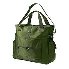 "Cargo Tote at Athleta. $69. ""Bottom unzips with hook-and-loop fasteners to hold yoga mat""!"