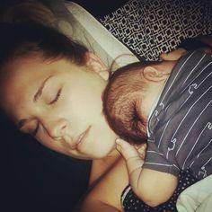 Me and big sleeping