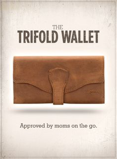 The Comprehensive World Travel Wallet | Saddleback Leather Trifold Wallet in Tobacco | 100 Year Warranty | $128.00