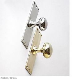 Rectangular Backed Door Knob Product DF 15 - Charles Edwards