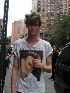 Matt Hitt wearing a Morrisey shirt... Probably The best combination that's ever existed