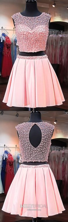Two Piece Formal Dresses Short, Pink Homecoming Dresses Modest, Satin Prom Dresses A Line, Tulle Graduation Dresses Unique Simple Formal Dresses, Two Piece Formal Dresses, Vintage Formal Dresses, Formal Dresses For Teens, Dresses Short, Vintage Homecoming Dresses, Prom Dresses, Graduation Dresses, Evening Dresses