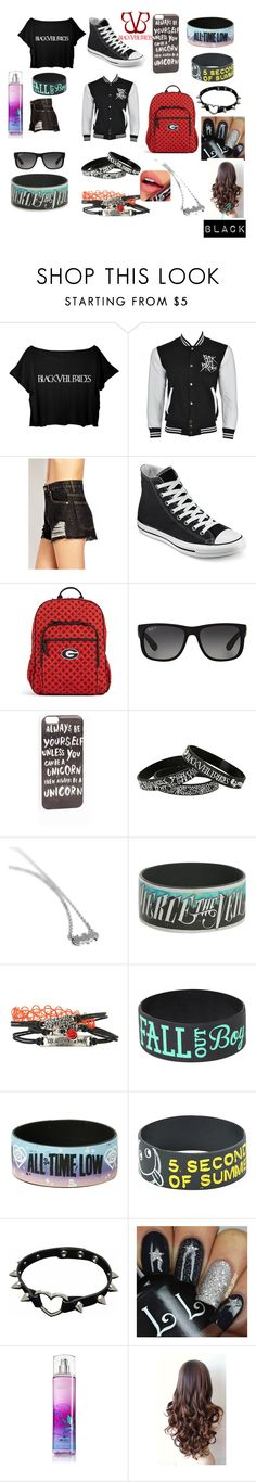 """concert time"" by cobbatlanta-9-bvbarmy on Polyvore featuring Forever 21, Converse, Vera Bradley, Ray-Ban, JFR and Fiebiger"