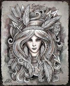 Zodiac ~ Sagittarius  by Olka Kostenko on Behance