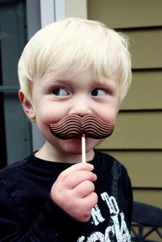 chocolate mustache
