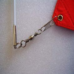 Use fishing swivels for ribbon wands so they wont tangle