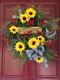 Spring/Summer Wreath, Sunflowers