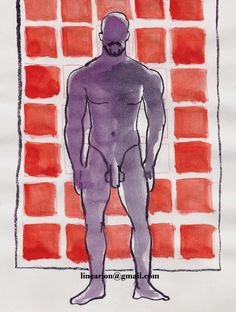 he has them squared watercolour and ink on paper,19x15cm by line arion http://pixels.com/featured/he-has-them-squared-line-arion.html