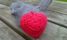 Sparkelz-creatief: Free crochet heart pattern.  Use Google to translate.