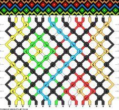Friendship bracelet pattern 52196 new Yarn Bracelets, Crochet Beaded Bracelets, Diy Bracelets Easy, Bracelet Knots, Bracelet Crafts, Diy Friendship Bracelets Patterns, Macrame Patterns, Paracord, Projects