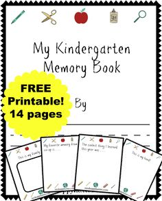 thehappyteacher kindergarten memory book k back to school pinterest memories book and. Black Bedroom Furniture Sets. Home Design Ideas
