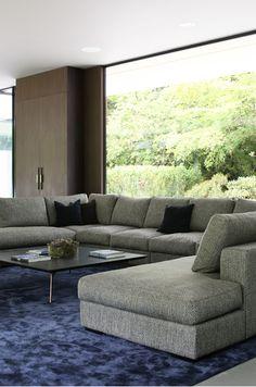 Moderne Inneneinrichtung * Schwarze Designersessel Von Boconcept ... Moderne Wohnzimmereinrichtungen