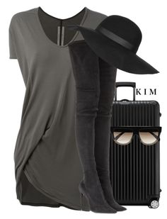 """""""Untitled #2797"""" by kimberlythestylist ❤ liked on Polyvore featuring Rick Owens, Rimowa, Tamara Mellon, Topshop and CÉLINE"""