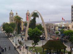 Plaza de Armas de Tacna, vista desde el Hotel Plaza, - Tacna, Perú