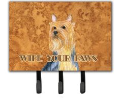 Silky Terrier Wipe your Paws Leash or Key Holder