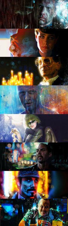 Blade Runner - All by DanielMurrayART on DeviantArt - Gussie Creek Blade Runner Wallpaper, Blade Runner Art, Blade Runner 2049, Fiction Movies, Sci Fi Movies, Science Fiction, Ridley Scott Movies, K Dick, Cinema Posters