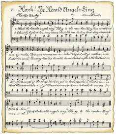 free vintage christmas music song sheet