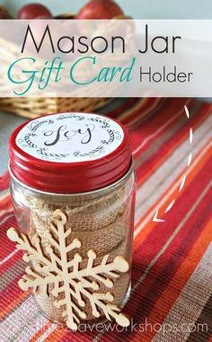 Mason Jar Gift Holde