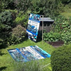 Solar ironing our banners rescued from Keswick Mountain Festival...