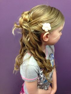 Special occasion flowergirl UPDO by Alysha @shearlockcombs
