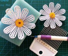 Uczę się nowego kwiatka Wiosennie ⛅ #quilling #quillingflowers #paperflower #paperartist