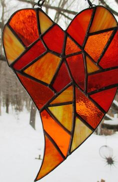 Stained Glass Heart by OriAnnaGlassArt on Etsy