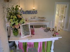 """{drooz studio """"once upon a time"""" studio} ...from 2004-2009 www.drooz.com ran operations from an 1830's farmhouse studio located on a lonely country road. the farmhouse was transformed & completely renovated by Shelly Kennedy over a 2 year period. the powder pink, fairytale space hosted many gatherings & celebrations, inspired a great collection of artwork and stories, and was always full of laughter and country mice."""