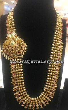 Antique Long Chain With Large Side Motif
