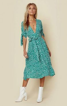 a449ff0c43 Faithfull The Brand Nina Midi Dress California Girl Style
