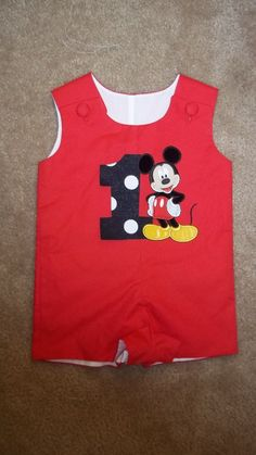 Boys Mickey Mouse Birthday Jon Jon by kwatson2010 on Etsy, $36.00