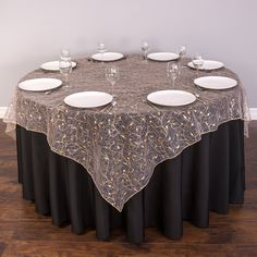 Our Beautiful Table Overlays Take The Subtlety Of Sheer Delicate Organza To  A Whole New Dimension · Tablecloth IdeasRound ...