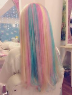 Pastel rainbow hair - beauty inspiration for GLOWLIKEAMOFO.com