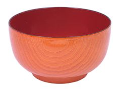 Wood Grain Plastic Lacquer Soup Bowl
