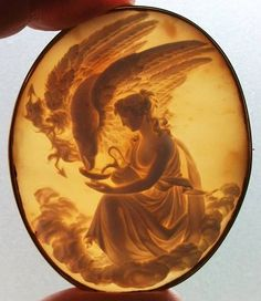 Old Victorian Cameo- Hebe Feeding the Eagle of Zeus, circa Italy :¦: Shell, Coral Victorian Jewelry, Antique Jewelry, Vintage Jewelry, Silver Jewelry, Cameo Jewelry, Jewellery, Body Jewelry, Fine Jewelry, Sculptures