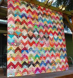 Scrappy Zig Zag | by RhubarbPatch. This one is on my list waiting for all of my colorful scraps.
