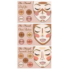 Concealer, Powder, Blush, Natural Face Palette