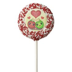 Custom Valentines Day Kawaii Oreo Cookie Pops  #Custom #ValentinesDay #Kawaii Apples #Oreo #CookiePops #valentines #gifts @Zazzle