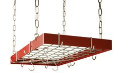 Custom Rectangle Ceiling Mount Pot Rack with Grid