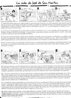 Imágen extraída de Picaporte 1 Ed. Santillana    La figura del General San Martín se muestra ante nosotros como un perfil señero en actitu...