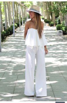 White pants combo
