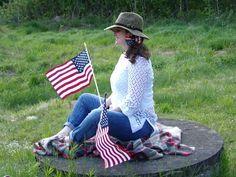 Vintage American Flag Bow