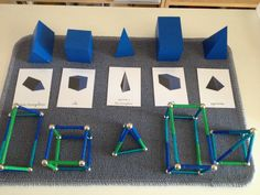 love the line work to go with the solids-great for the Montessori elementary math shelf math Travail sur les solides, sommets & arêtes Montessori Education, Montessori Classroom, Montessori Activities, Homeschool Math, Math Classroom, Geometric Solids, Montessori Practical Life, Math Concepts, Math For Kids