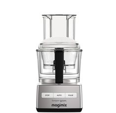 Magimix Compact 5200 XL Chrome 1100 Watt Food Processor with Recipe Book Mixer, Juice Extractor, Blender, Egg Whisk, Cooking Equipment, Specialty Appliances, Milkshake, Popcorn Maker, Whipped Cream