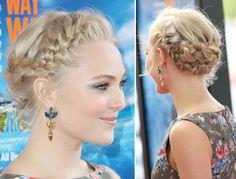 AnnaSophia Robb's cool braided 'do