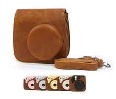 High Quality New Fujifilm Leather 90 Instax Mini 8 Camera Bag with shoulder strap camera bag shoulder bag leather pouch case    For Fujifilm 90