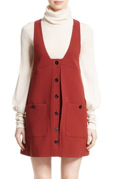 Chloé Chloé Wool Crepe Jumper Dress available at #Nordstrom