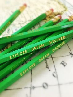 love. :: Explore. Dream. Discover. Green Pencil Set